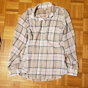 Old Navy Sheer Button Down, Plaid